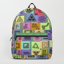 Tribal Prints in Colored Boxes Backpack
