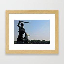 The Mermaid of Warsaw Framed Art Print