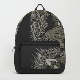 Neo Classic Mermaid Siren Sepia Backpack