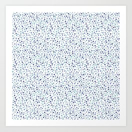 Bubble Rocks-Blue : Part of Organic Medallion collection Art Print