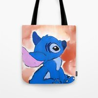 stitch Tote Bags featuring STITCH  by Taylor Perren