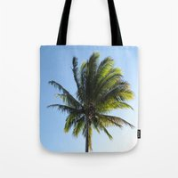 palm Tote Bags featuring Palm by Percival