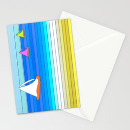 Sail Away - Summer and Beach Art Stationery Cards