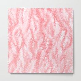 Pastel Strawberry Pink Lacey Icing Metal Print