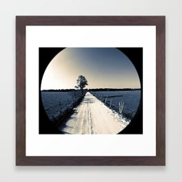 raised on a dirt road Framed Art Print