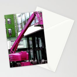 Pink crane Stationery Cards