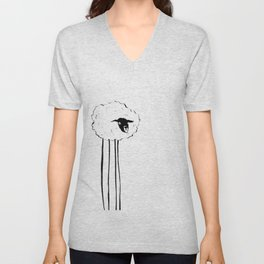 Creepy Sheep Unisex V-Neck