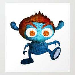 Mr. Blue Art Print