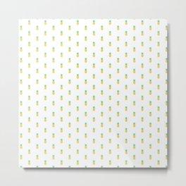 Falling Pineapples Metal Print