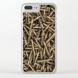 Rifle bullets Clear iPhone Case