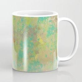 Faded Greens and Turquoise Abstract Coffee Mug