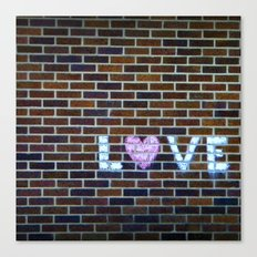 Love On the Bricks 2 Canvas Print