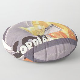 Vintage 1941 Cordial Campari Advertisement by Nicolay Diulgheroff Floor Pillow