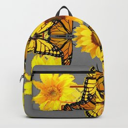 WESTERN STYLE YELLOW SUNFLOWERS & ORANGE MONARCH BUTTERFLIES Backpack