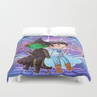 glee Duvet Covers featuring Defying Gravity by Sunshunes