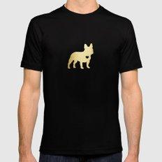French Bulldog Gold Black MEDIUM Mens Fitted Tee