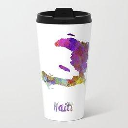 Haiti in watercolor Travel Mug