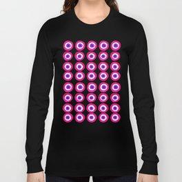Evil Eye Amulet Talisman in Pink Long Sleeve T-shirt