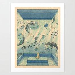 Blue Hours Art Print