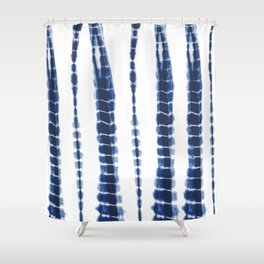 Indigo Blue Tie Dye Delight Shower Curtain