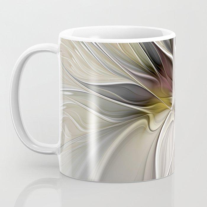 Floral Abstract, Fractal Art Coffee Mug
