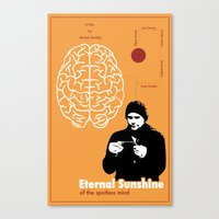 eternal sunshine of the spotless mind Canvas Prints featuring Eternal Sunshine of the Spotless Mind by JAGraphic