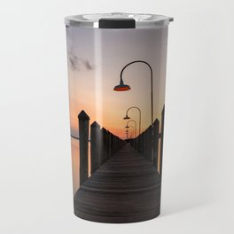 Rusty Rudder Dock Sunset Travel Mug