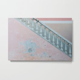 Pink wall of Capri, Italy | Abstract photography of a wall on the island | Travel photography fine art print Metal Print