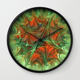 Sparked skid Wall Clock