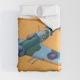 RAF Hawker Hurricane by Dennis Weber of ShreddyStudio Comforters