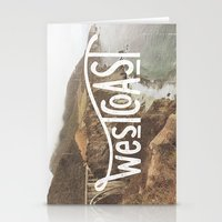 west coast Stationery Cards featuring West Coast by cabin supply co