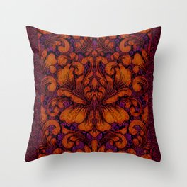 Gothic Flowers Throw Pillow