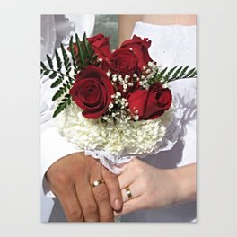 Roses and Rings Canvas Print