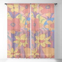 Sunshine and Wildflowers Sheer Curtain