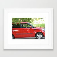 yorkie Framed Art Prints featuring Yorkie Driving by indigo2
