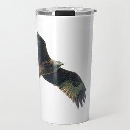 Red Kite in flight Travel Mug