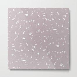 Annas Song Soft Dusty Rose Splatter Spots Metal Print