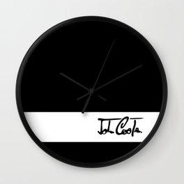 Mini 'John Cooper' Black Collection Wall Clock