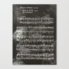 Brahms Sheet Music - Ballade Canvas Print