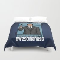 archer Duvet Covers featuring Archer Awesomeness by 666HUGHES