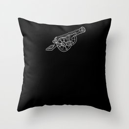 Cannon - One Line Drawing Throw Pillow