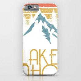 Vintage Lake Tahoe California Nevada Retro Hoodie iPhone Case