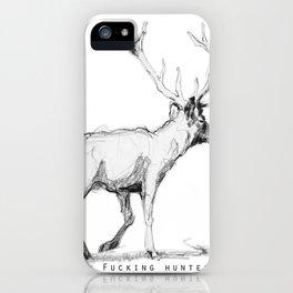 Fucking hunters iPhone Case