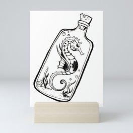 Seahorse Tattoo Inspired Mini Art Print