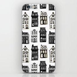 Mansard Mansions in Black + White Watercolor iPhone Skin