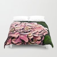 hydrangea Duvet Covers featuring Hydrangea  by Idle Amusement