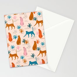 Rainbow cheetahs Stationery Cards