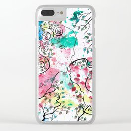 HAPPINESS by mrs Wilkes Clear iPhone Case