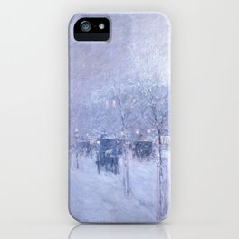 Late Afternoon, New York, Winter by Childe Hassam iPhone Case