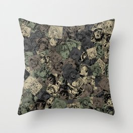 Ahegao camouflage Throw Pillow
